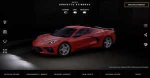 - A new digital tool, the Corvette Visualizer , allows people to design and customize their Corvette in extreme 3D detail through Chevrolet.com.
